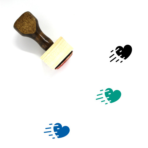 Fast Heart Wooden Rubber Stamp No. 1