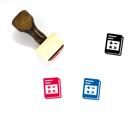 Textbook Wooden Rubber Stamp No. 22