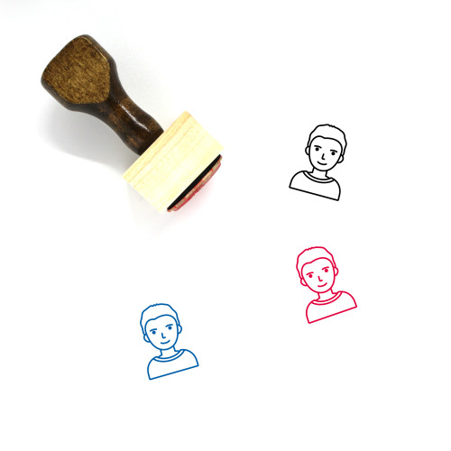 Boy Wooden Rubber Stamp No. 181