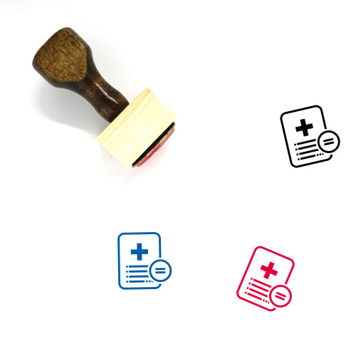 Medical Report Equal Wooden Rubber Stamp No. 1