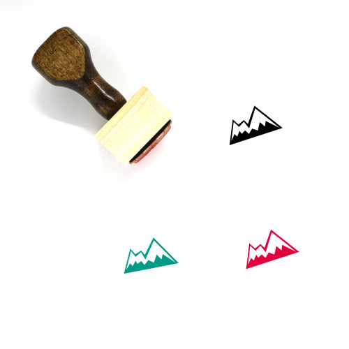 Mountain Wooden Rubber Stamp No. 193