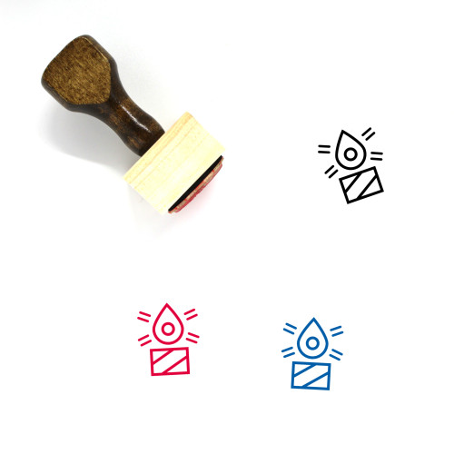 Candle Wooden Rubber Stamp No. 233
