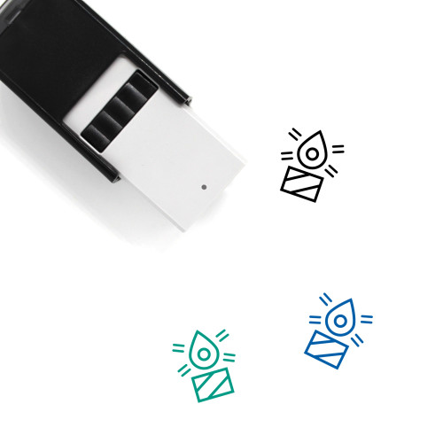 Candle Self-Inking Rubber Stamp No. 233