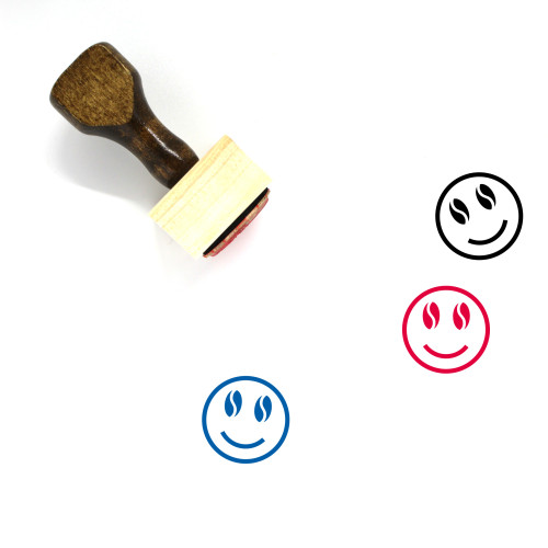 Happy Wooden Rubber Stamp No. 294