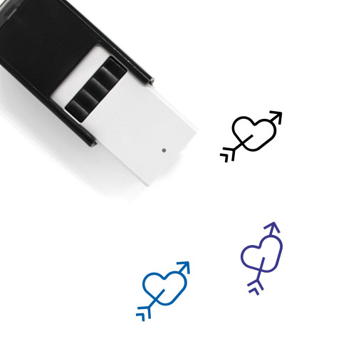 Heart And Arrow Self-Inking Rubber Stamp No. 15