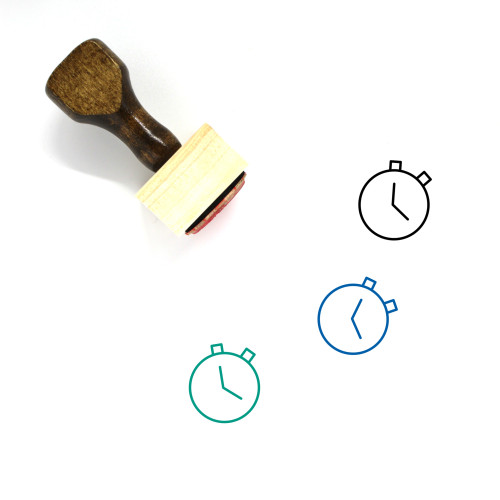 Stopwatch Wooden Rubber Stamp No. 82