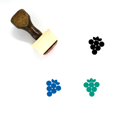 Grapes Wooden Rubber Stamp No. 67