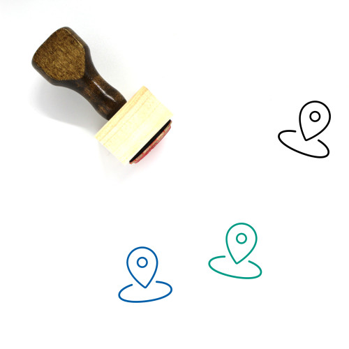 Location Wooden Rubber Stamp No. 269