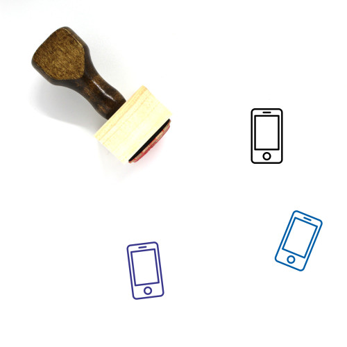 Smart Phone Wooden Rubber Stamp No. 13