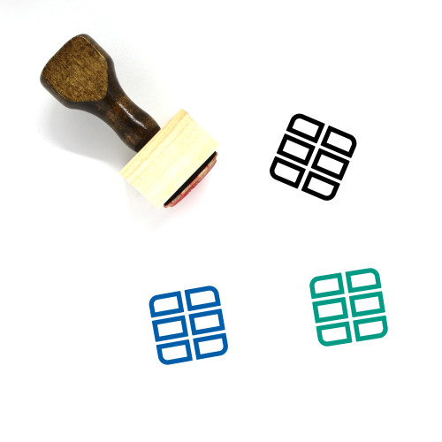 Cargo Wooden Rubber Stamp No. 75