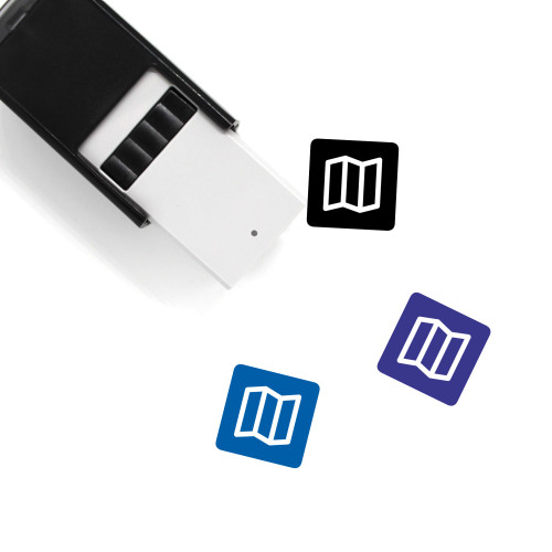 Map Self-Inking Rubber Stamp No. 732