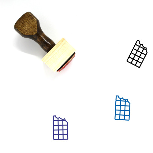 Chocolate Wooden Rubber Stamp No. 83