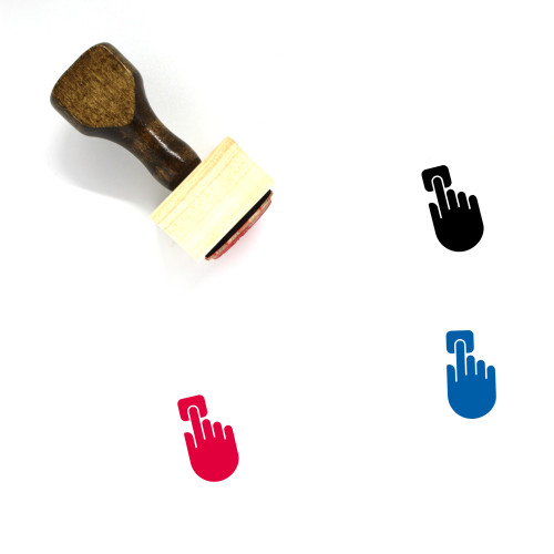 Press Button Wooden Rubber Stamp No. 25