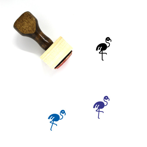 Flamingo Wooden Rubber Stamp No. 32