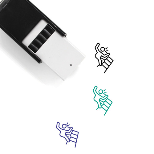 Falling Down Stairs Self-Inking Rubber Stamp No. 1