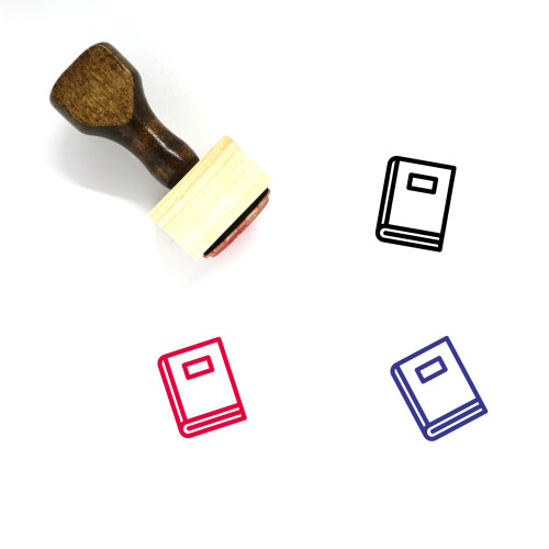Book Wooden Rubber Stamp No. 728