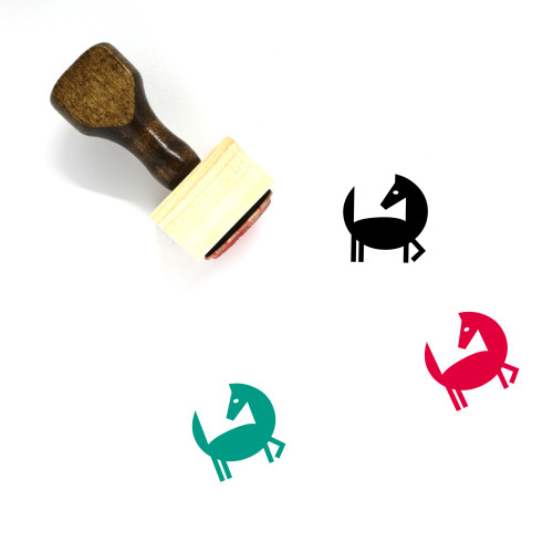 Horse Wooden Rubber Stamp No. 137