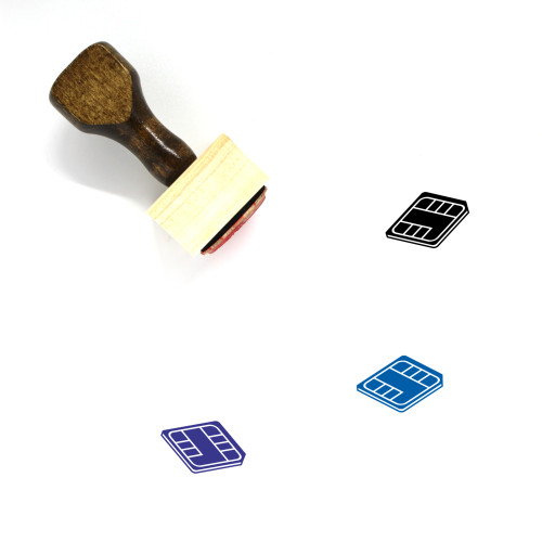 SIM Card Wooden Rubber Stamp No. 53