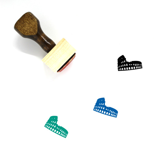 Colosseum Wooden Rubber Stamp No. 34