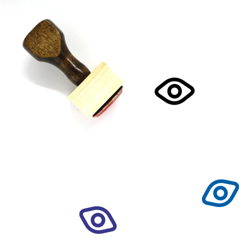 Eye Wooden Rubber Stamp No. 492