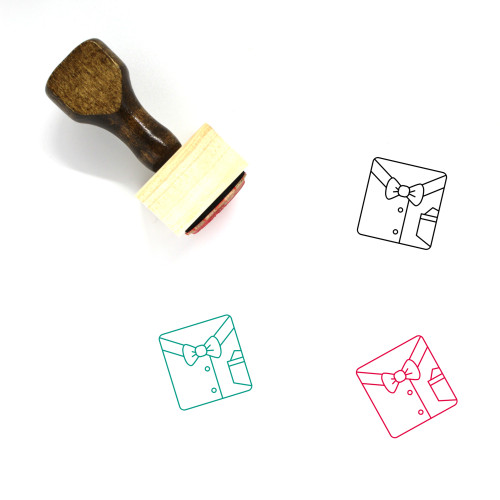 Shirt Wooden Rubber Stamp No. 203