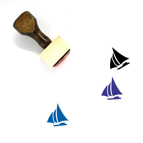Sailboat Wooden Rubber Stamp No. 70