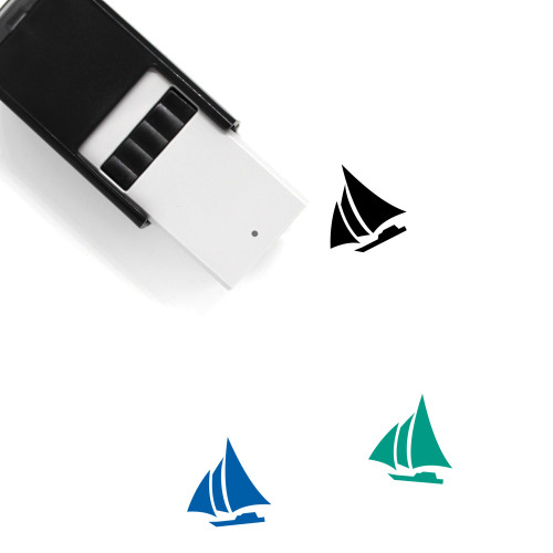 Sailboat Self-Inking Rubber Stamp No. 70