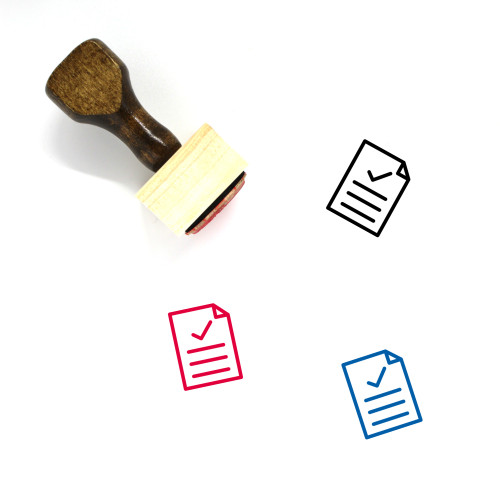 Approved Document Wooden Rubber Stamp No. 22