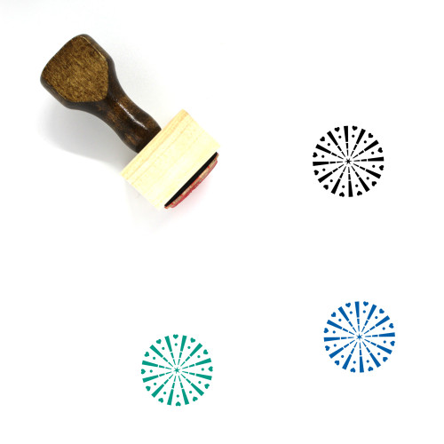 Fireworks Wooden Rubber Stamp No. 146