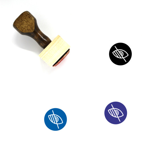 Visually Impaired Wooden Rubber Stamp No. 8