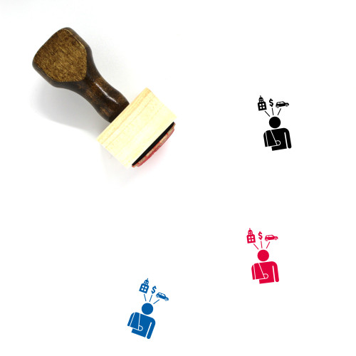 Accident Compensation Wooden Rubber Stamp No. 2