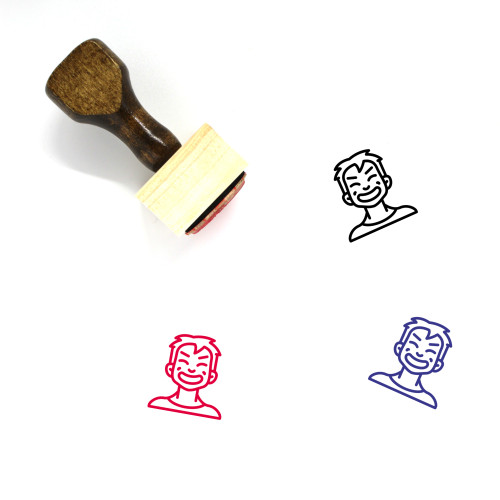 Cheesey Boy Wooden Rubber Stamp No. 4