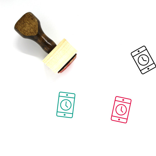 Cellphone Wooden Rubber Stamp No. 80