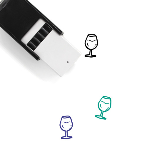Glass Of Wine Self-Inking Rubber Stamp No. 20