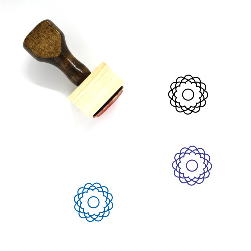 Flowers Wooden Rubber Stamp No. 71
