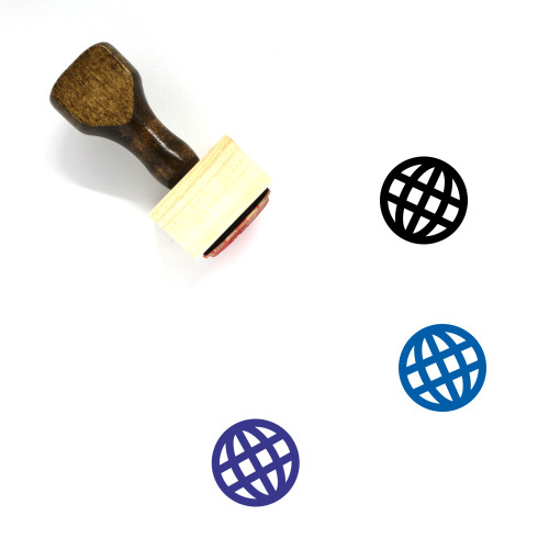 Globe Wooden Rubber Stamp No. 1351