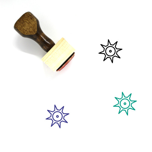 Shine Wooden Rubber Stamp No. 16