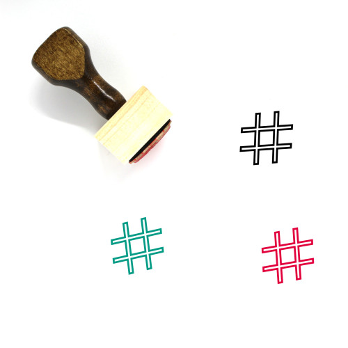 Hashtag Wooden Rubber Stamp No. 15