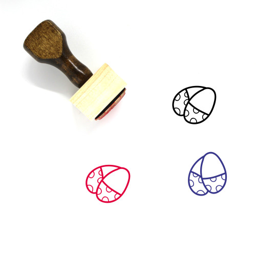 Eggs Wooden Rubber Stamp No. 132