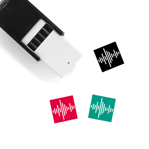 Sound Wave Self-Inking Rubber Stamp No. 43