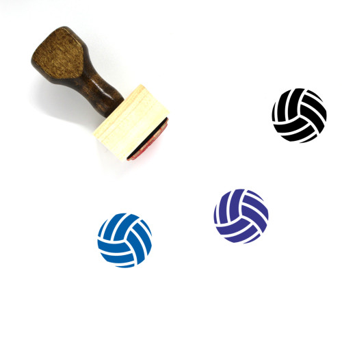 Volleyball Wooden Rubber Stamp No. 50