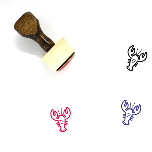 Lobster Wooden Rubber Stamp No. 20