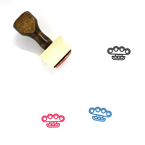 Brass Knuckles Wooden Rubber Stamp No. 18