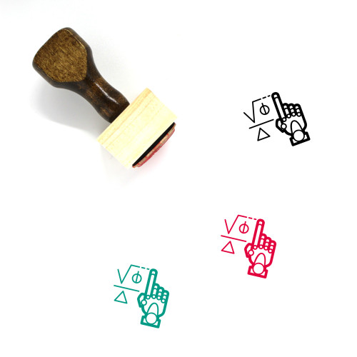 Machine Learning Wooden Rubber Stamp No. 41