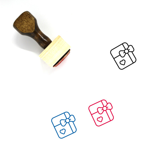 Gift Card Wooden Rubber Stamp No. 41