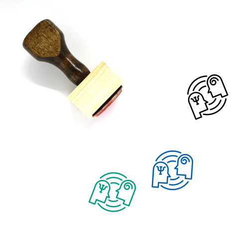 Psychology Wooden Rubber Stamp No. 10