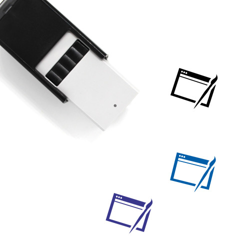 Web Design Self-Inking Rubber Stamp No. 60