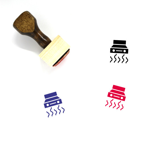 Extractor Fan Wooden Rubber Stamp No. 2
