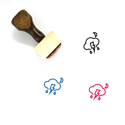 Thunderstorm Wooden Rubber Stamp No. 24