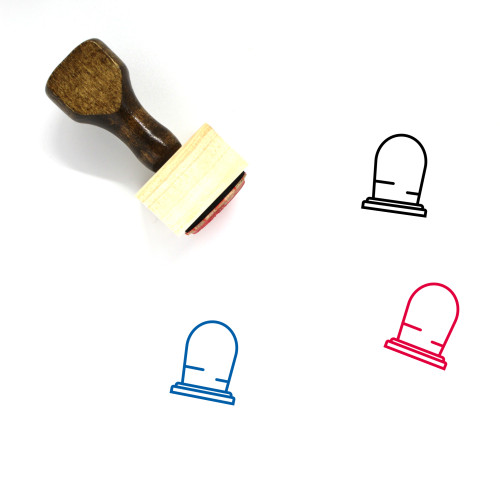 Grave Wooden Rubber Stamp No. 85